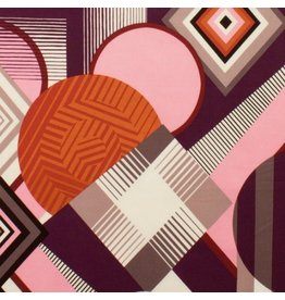 Alexander Henry Fabrics Africa, Mwamba Abstract in Pink, Fabric Half-Yards