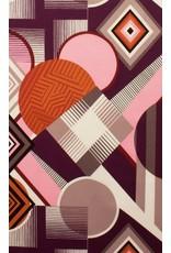 Alexander Henry Fabrics Africa, Mwamba Abstract in Pink, Fabric Half-Yards