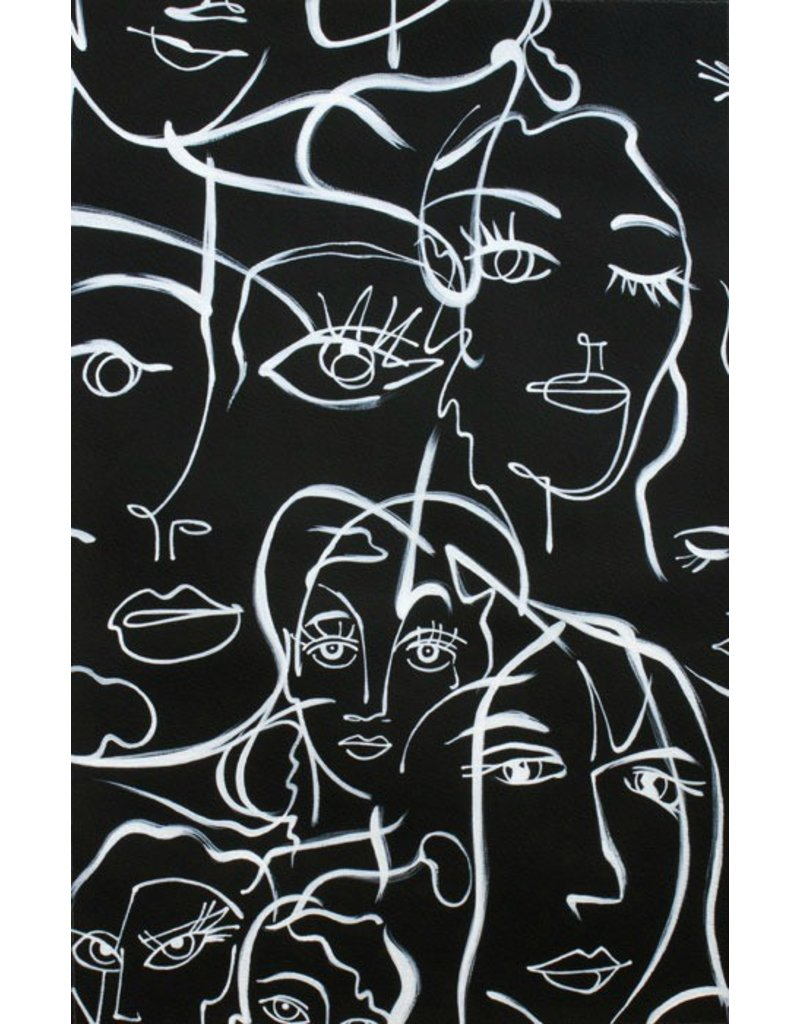 PD's Alexander Henry Collection Abstract Expression in Black, Dinner Napkin