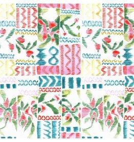Blend Fabrics Tea Garden, Garden Swatch in White, Fabric Half-Yards