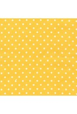 Robert Kaufman Cozy Cotton Flannel in Pin Dot Yellow, Fabric Half-Yards