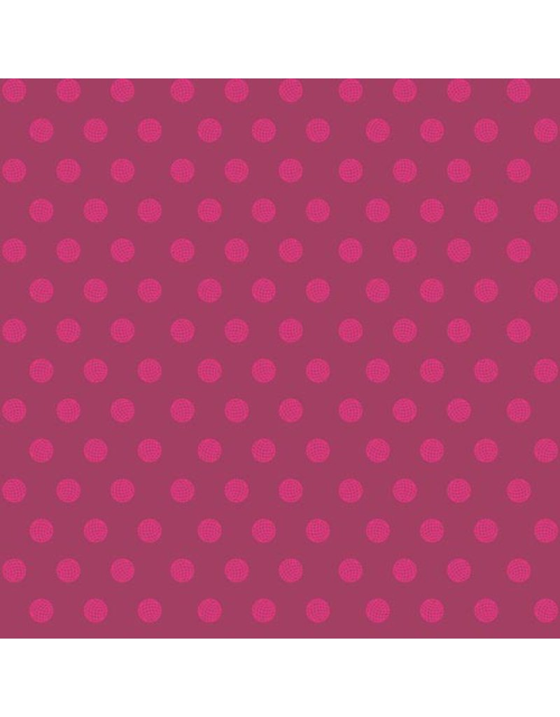 PD's Alison Glass Collection Sun Print, Sphere in Raspberry, Dinner Napkin