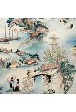Alexander Henry Fabrics Indochine, Tokaido Road in Multi, Fabric Half-Yards