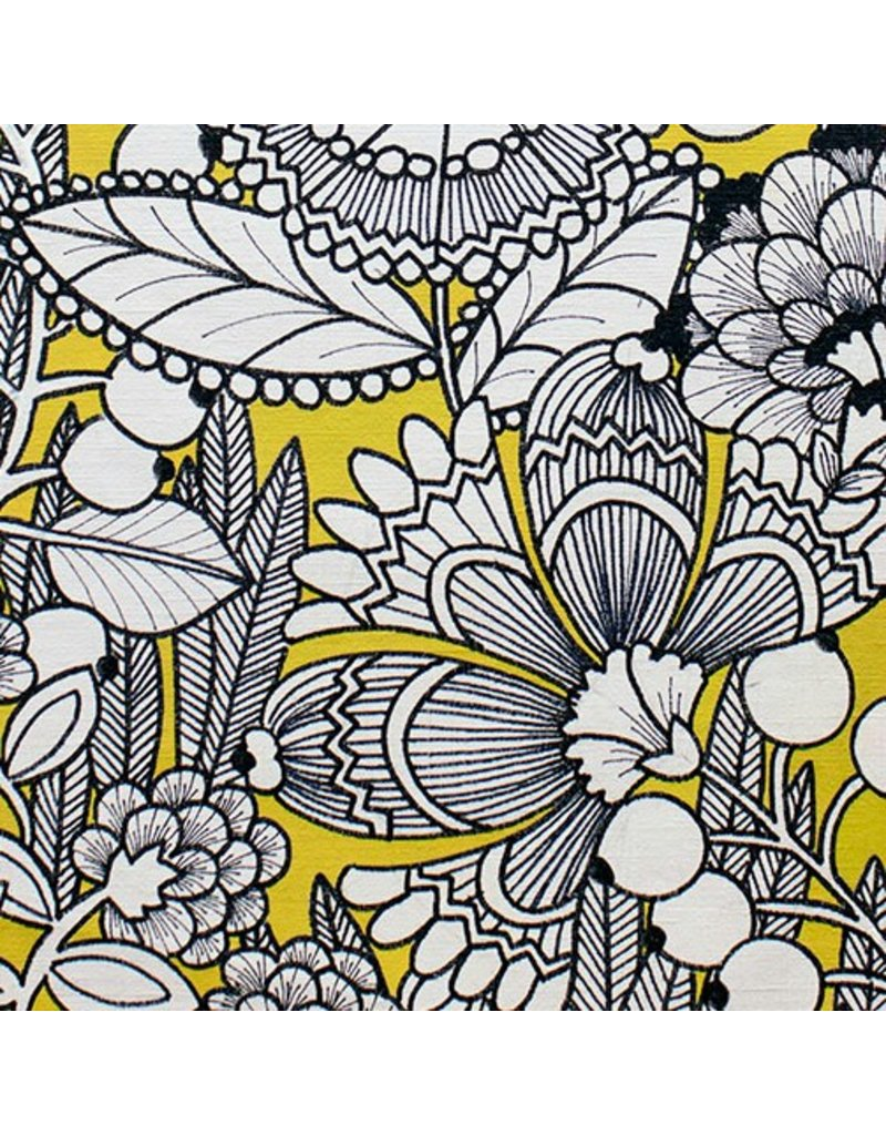 Alexander Henry Fabrics The Ghastlies, A Ghastlie Gardenia in Gold, Fabric Half-Yards