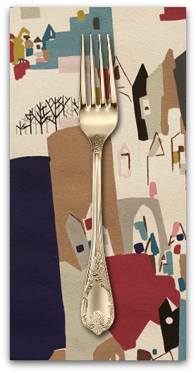 PD's Alexander Henry Collection A Ghastlie Abstract in Deep Claret, Dinner Napkin