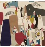 Alexander Henry Fabrics The Ghastlies, A Ghastlie Abstract in Deep Claret, Fabric Half-Yards