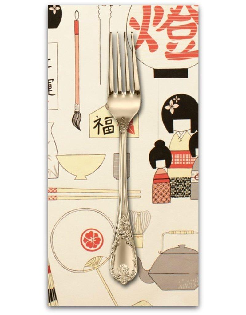 PD's Alexander Henry Collection Indochine, Geisha Coterie in Light Tea, Dinner Napkin