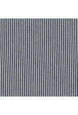 Robert Kaufman House of Denim Railroad Denim Medium Stripe in Indigo, Fabric Half-Yards