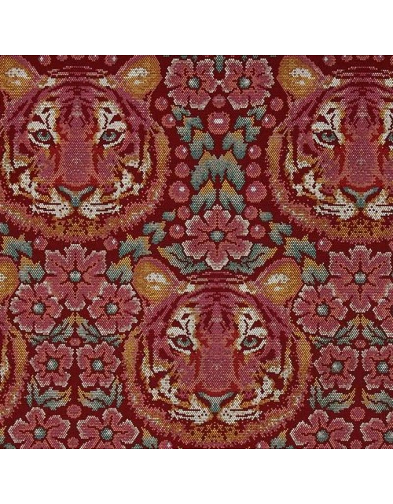 Tula Pink Eden, Crouching Tiger in Tourmaline, Fabric Half-Yards