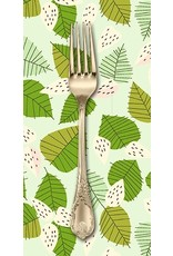 PD's Lizzy House Collection The Lovely Hunt, Strawberry Field in Green, Dinner Napkin