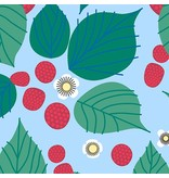Lizzy House The Lovely Hunt, Raspberry Bramble in Green, Fabric Half-Yards