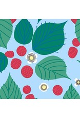 PD's Lizzy House Collection The Lovely Hunt, Raspberry Bramble in Green, Dinner Napkin