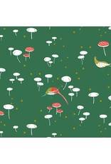 Lizzy House The Lovely Hunt, Fairy Rings in Grass, Fabric Half-Yards
