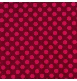 Michael Miller Ta Dots, Fuchsia, Fabric Half-Yards