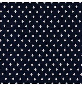 Sarah Watts Rayon, Frock Gemstone in Navy, Fabric Half-Yards