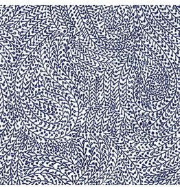 Michael Miller Indigo Collection, Vine Maze in Midnight, Fabric Half-Yards