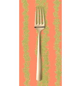 PD's Michael Miller Collection Glitz, Bars in Peach and Gold with Metallic, Dinner Napkin