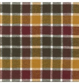 Robert Kaufman Yarn Dyed Cotton Flannel, Mammoth Flannel in Cider, Fabric Half-Yards
