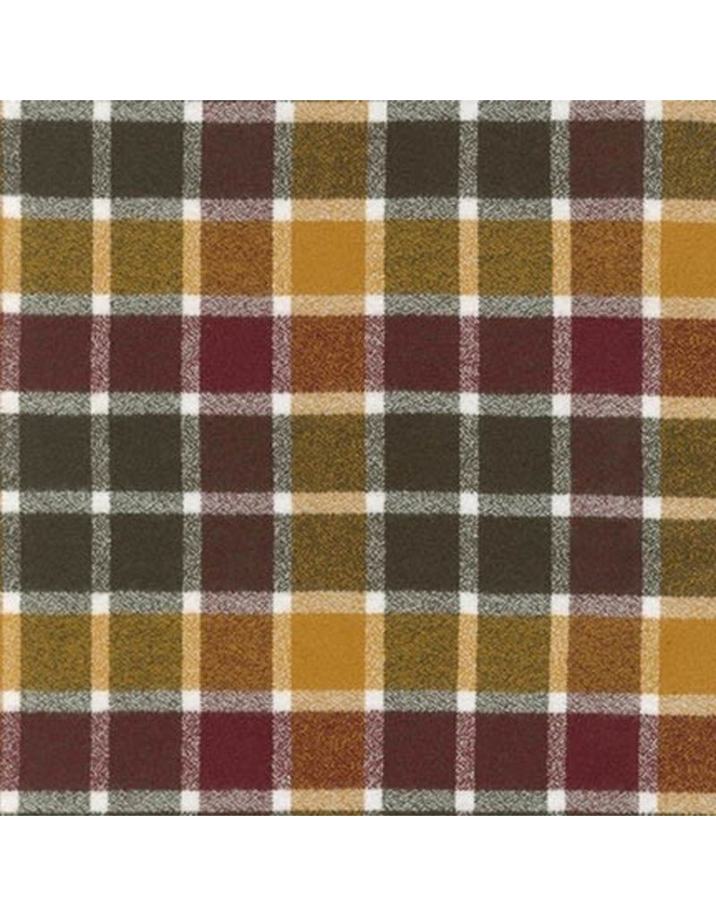 Robert Kaufman Yarn Dyed Cotton Flannel, Mammoth Flannel in Cider, Fabric Half-Yards