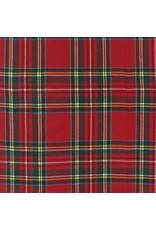 Robert Kaufman House of Wales Plaids, Woven Plaid in Red, Fabric Half-Yards