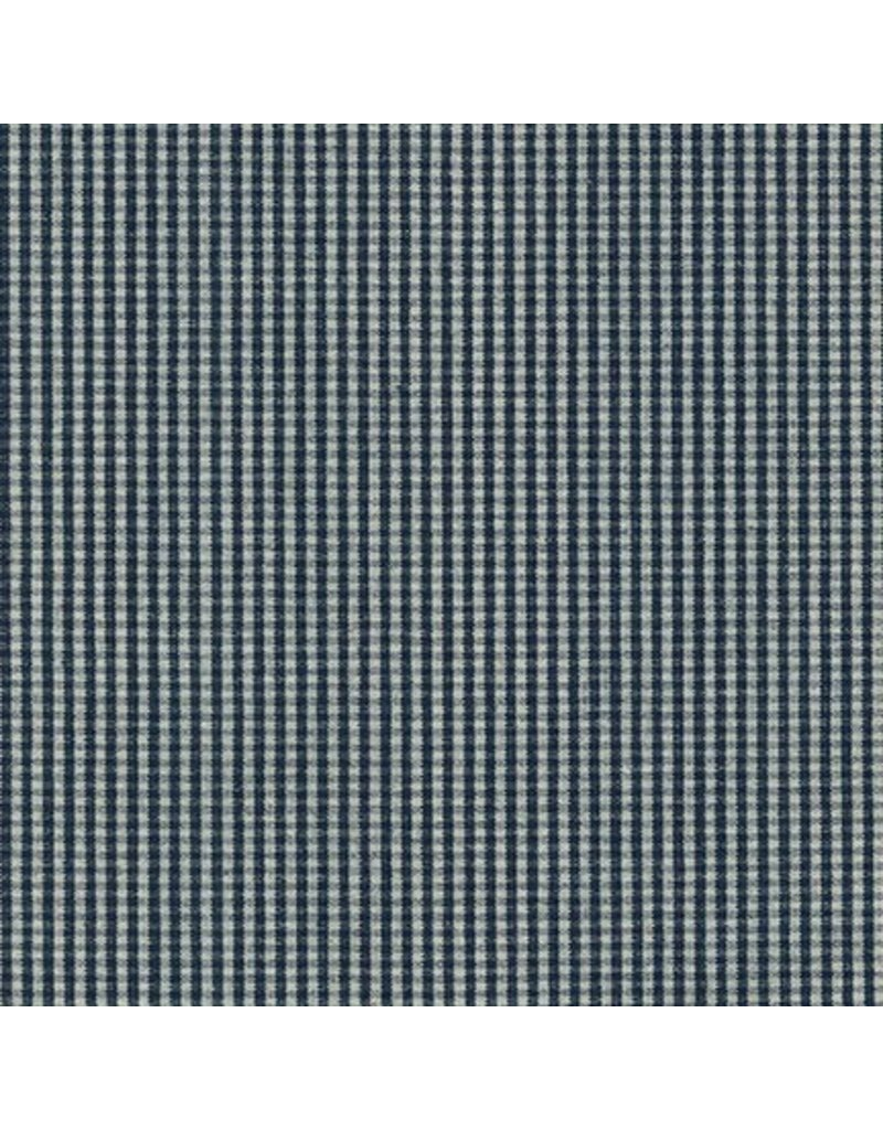 Robert Kaufman House of Denim Railroad Denim 16011, Checks in Denim, Fabric Half-Yards