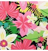 Alexander Henry Fabrics Tiki Dreams, Tiki Garden in Black, Fabric Half-Yards