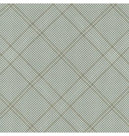 Carolyn Friedlander Carkai, Grid Diamond in Shale with Metalic, Fabric Half-Yards
