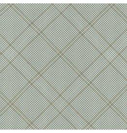 Carolyn Friedlander Carkai, Grid Diamond in Shale with Metalic, Fabric Half-Yards