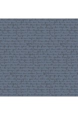 Andover Fabrics The Gray Collection, Script in Charcoal, Fabric Half-Yards