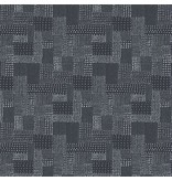 Andover Fabrics The Gray Collection, Patches in Charcoal, Fabric Half-Yards