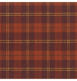 Robert Kaufman Yarn Dyed Cotton Flannel, Mammoth Flannel in Rust, Fabric Half-Yards