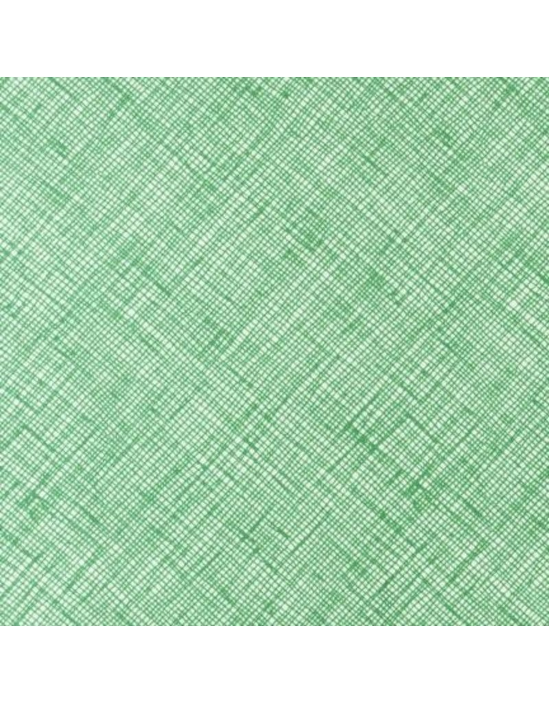 Carolyn Friedlander Architextures, Crosshatch in Fern, Fabric Half-Yards