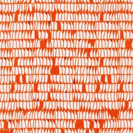 Carolyn Friedlander Carkai, Dentals in Tangerine, Fabric Half-Yards