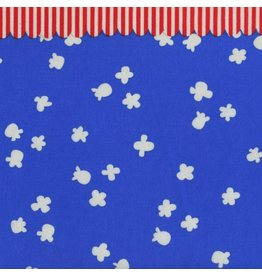 Kim Kight Penny Arcade Popcorn in Sky Blue, Fabric Half-Yards