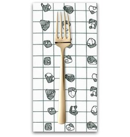 PD's Carolyn Friedlander Collection Carkai, Grid Bits in White, Dinner Napkin