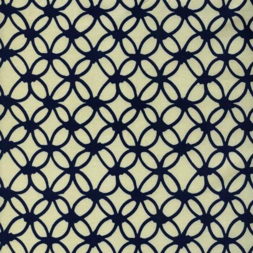 Rashida Coleman-Hale Macrame Knotty in Navy, Fabric Half-Yards