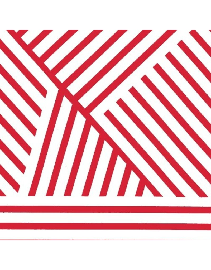 PD's Marcus Fabrics Collection Mostly Manor, Manor Stripe in Red and White, Dinner Napkin
