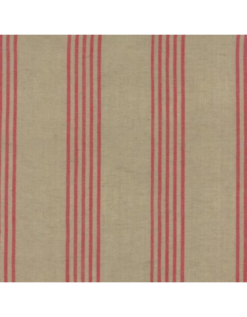 Moda Linen Closet in Flax Red, Fabric Half-Yards