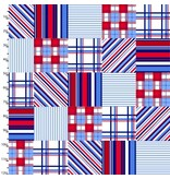3 Wishes Fabric Cape Cod in Red White and Blue, Fabric Half-Yards