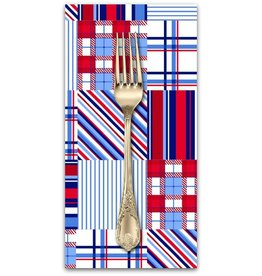 PD's 3 Wishes Collection Cape Cod in Red White and Blue, Dinner Napkin