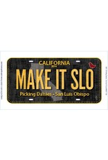 Row by Row License Plate - MAKE IT SLO 2016 Row by Row