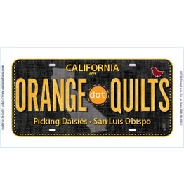Row by Row License Plate - ORANGE DOT QUILTS 2016 Row by Row