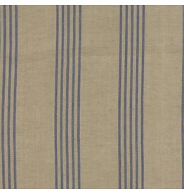 Moda Linen Closet in Flax Blue, Fabric Half-Yards