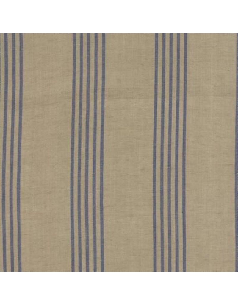 Moda Linen Closet in Flax Blue, Fabric Half-Yards