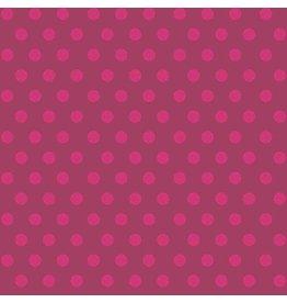 Alison Glass Sun Print, Sphere in Raspberry, Fabric Half-Yards