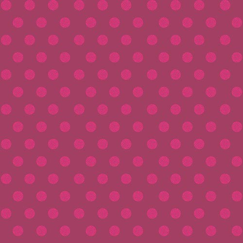 Alison Glass Sun Print, Sphere in Raspberry, Fabric Half-Yards