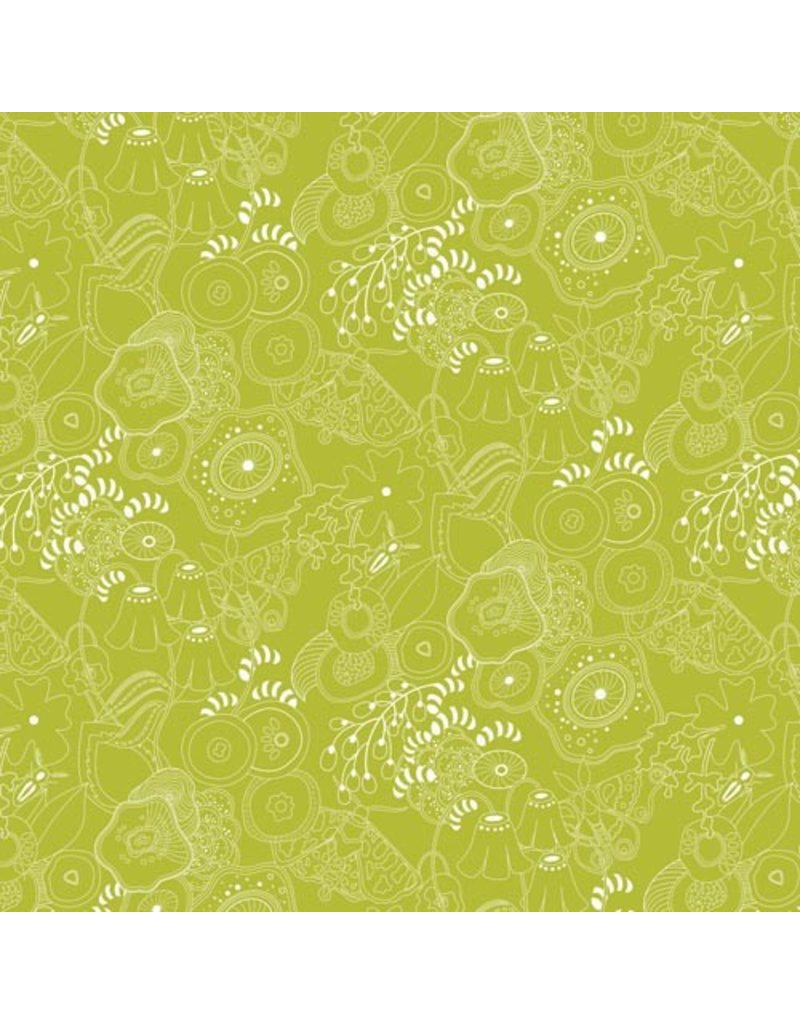 Alison Glass Sun Print, Grow in Fern, Fabric Half-Yards
