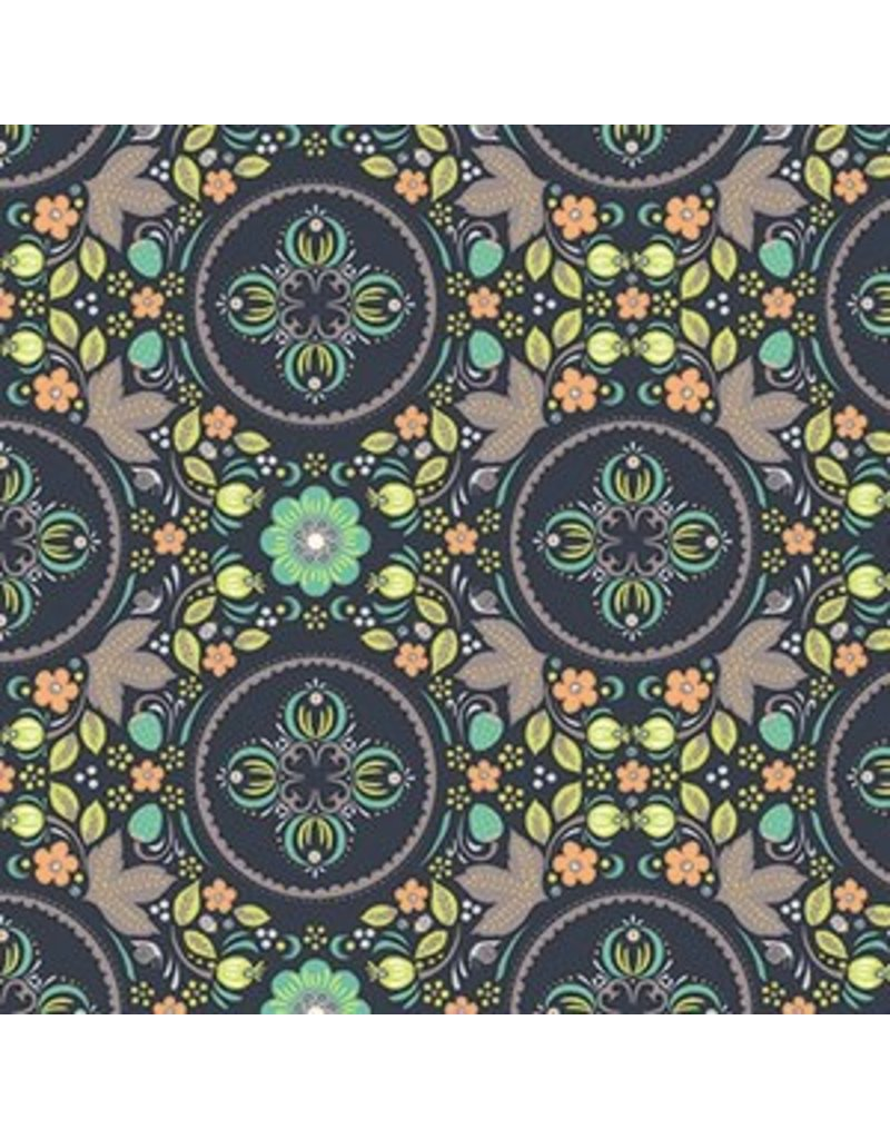 Andover Fabrics Forest Fables, Secret Garden in Winter, Fabric Half-Yards
