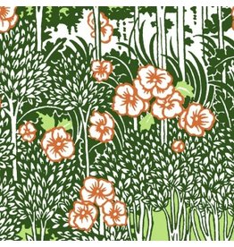 Dear Stella Zola, Tropical Forest in Green, Fabric Half-Yards