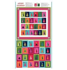 "Andover Fabrics Wrap It Up, Advent Calendar in Multi, 24"" Fabric Panel"